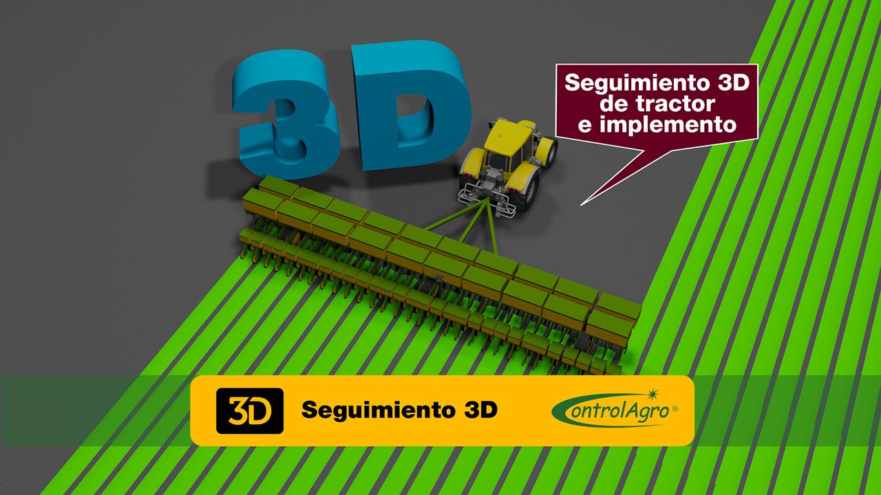 """Visualizar el tractor y el implemento de manera 3D, presenta de manera más """"real"""" el trabajo que se esta realizando."""